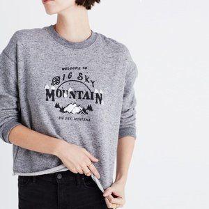 Madewell Big Sky Montana Cutoff Sweatshirt